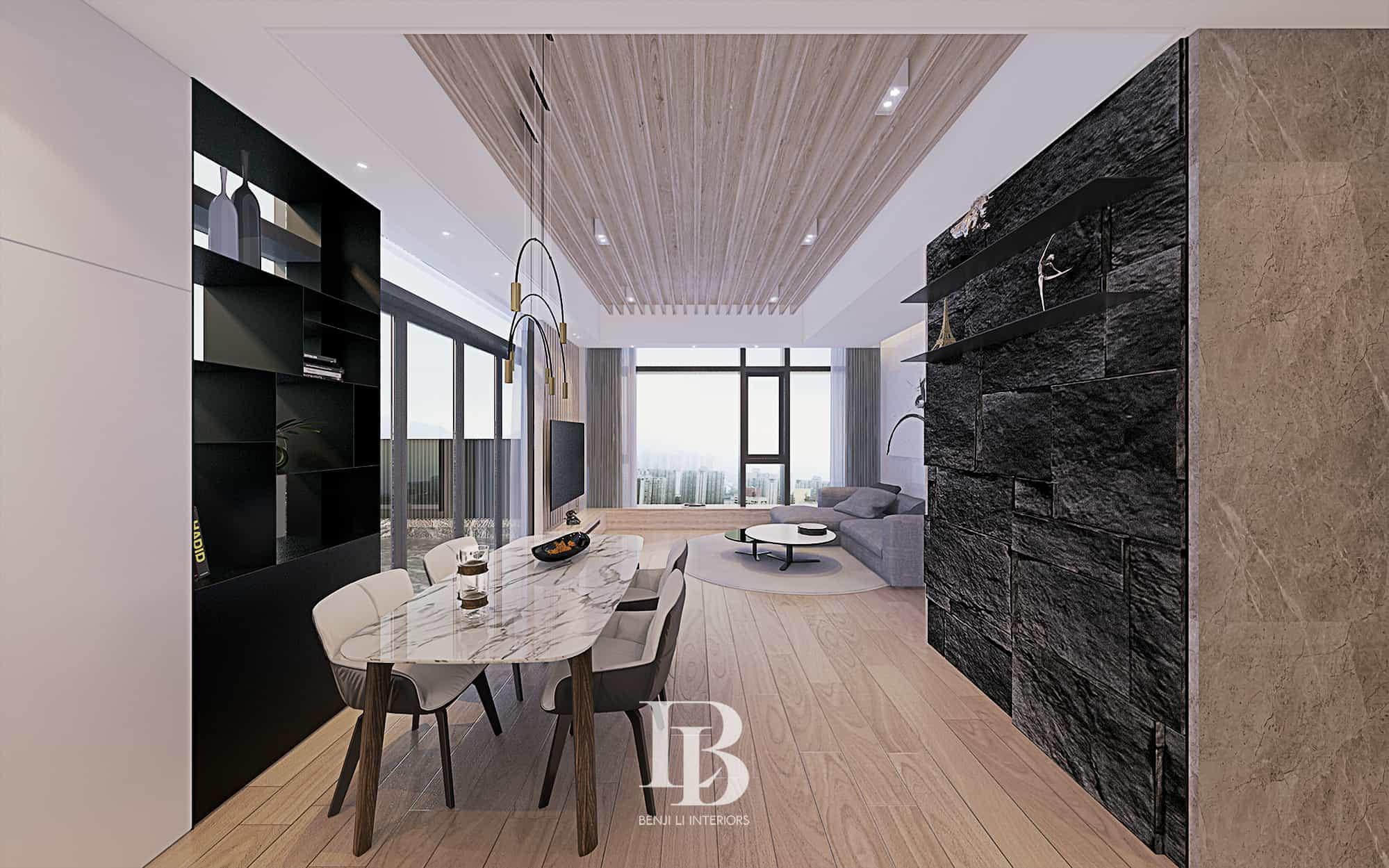 Benji Li Lion Rise Wong Tai Sin Living Area Dining Area