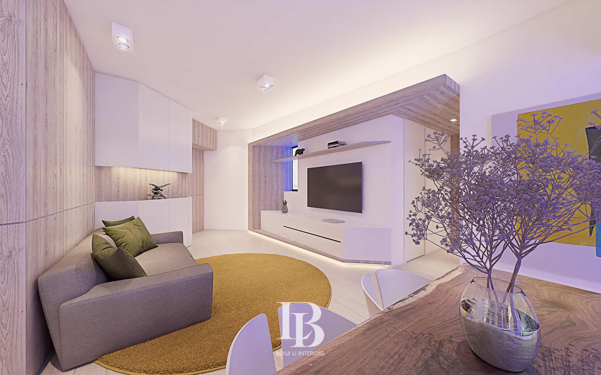 Benji Li Manhattan Heights Kennedy Town Living Area Dining Area