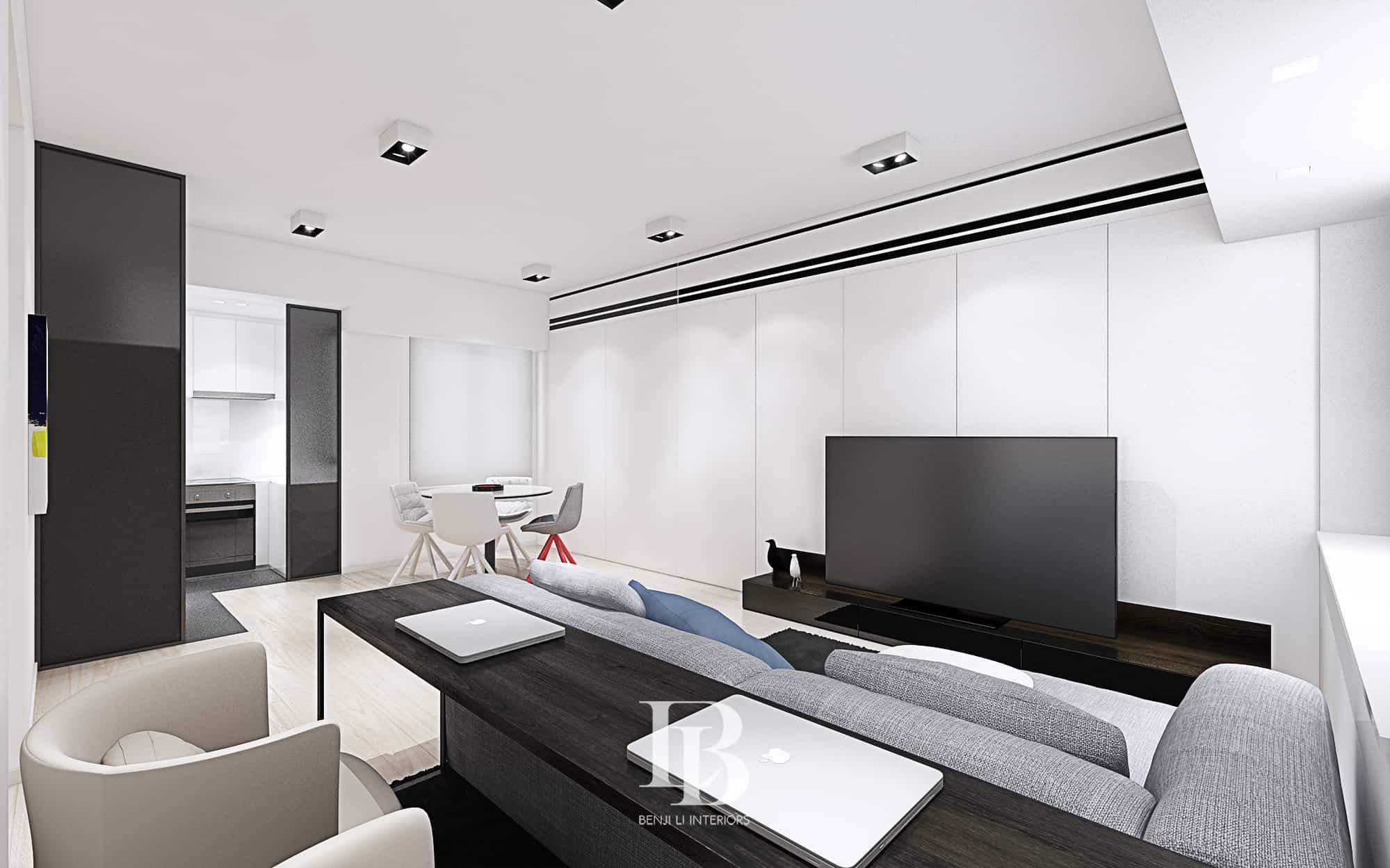 Benji Li Robinson Heights Living Area Dining Area